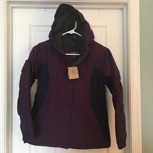 NWT Lands End Girls Squall Waterproof Jacket 10-12